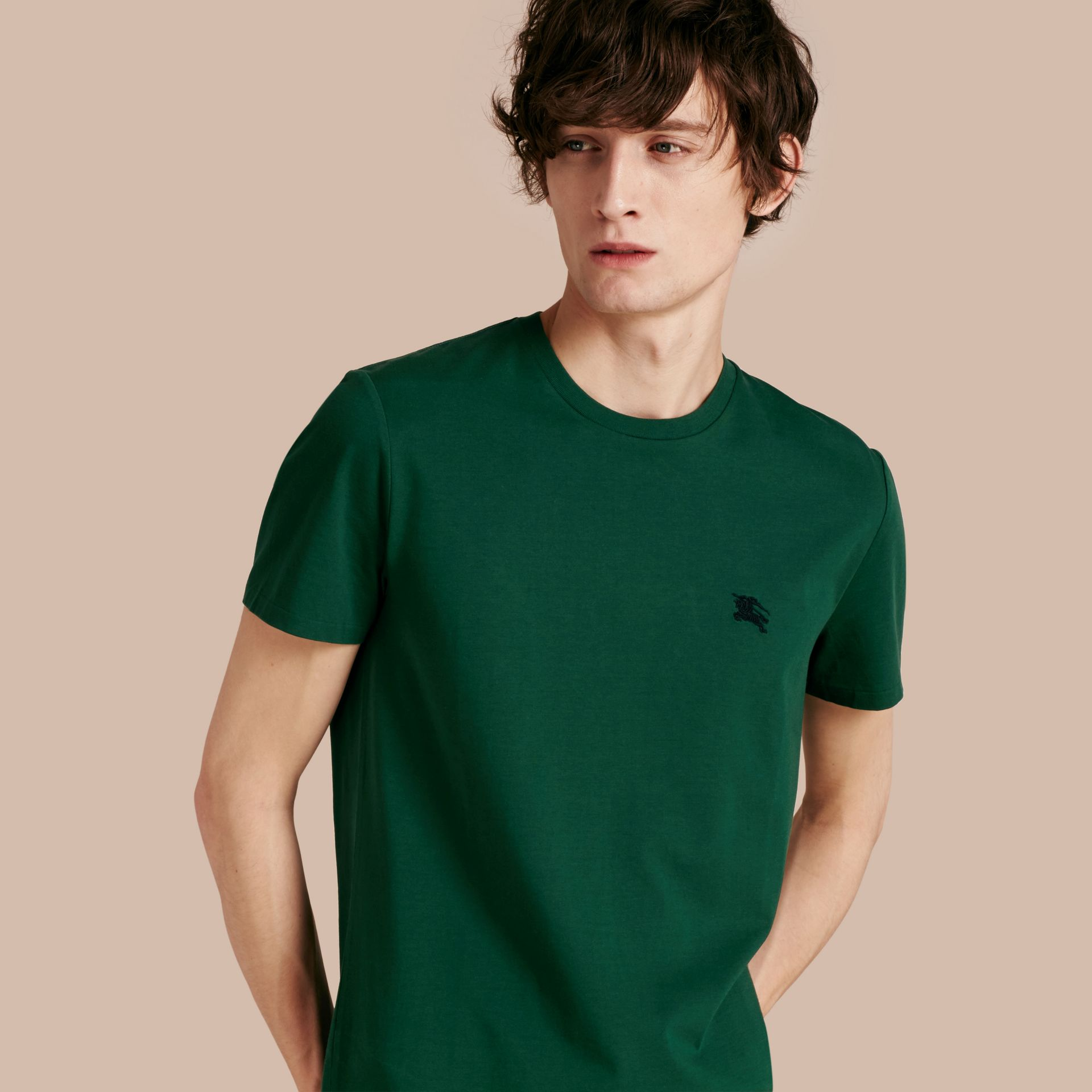 Racing green Liquid-soft Cotton T-Shirt Racing Green - gallery image 1