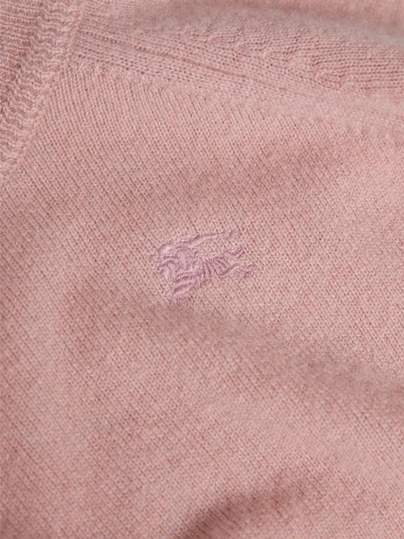 Suéter de cashmere com punhos xadrez (Rosa Terroso) | Burberry - cell image 1