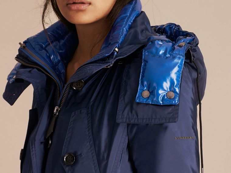 Fur-trimmed Parka with Detachable Down-filled Jacket in Ink Blue - cell image 4
