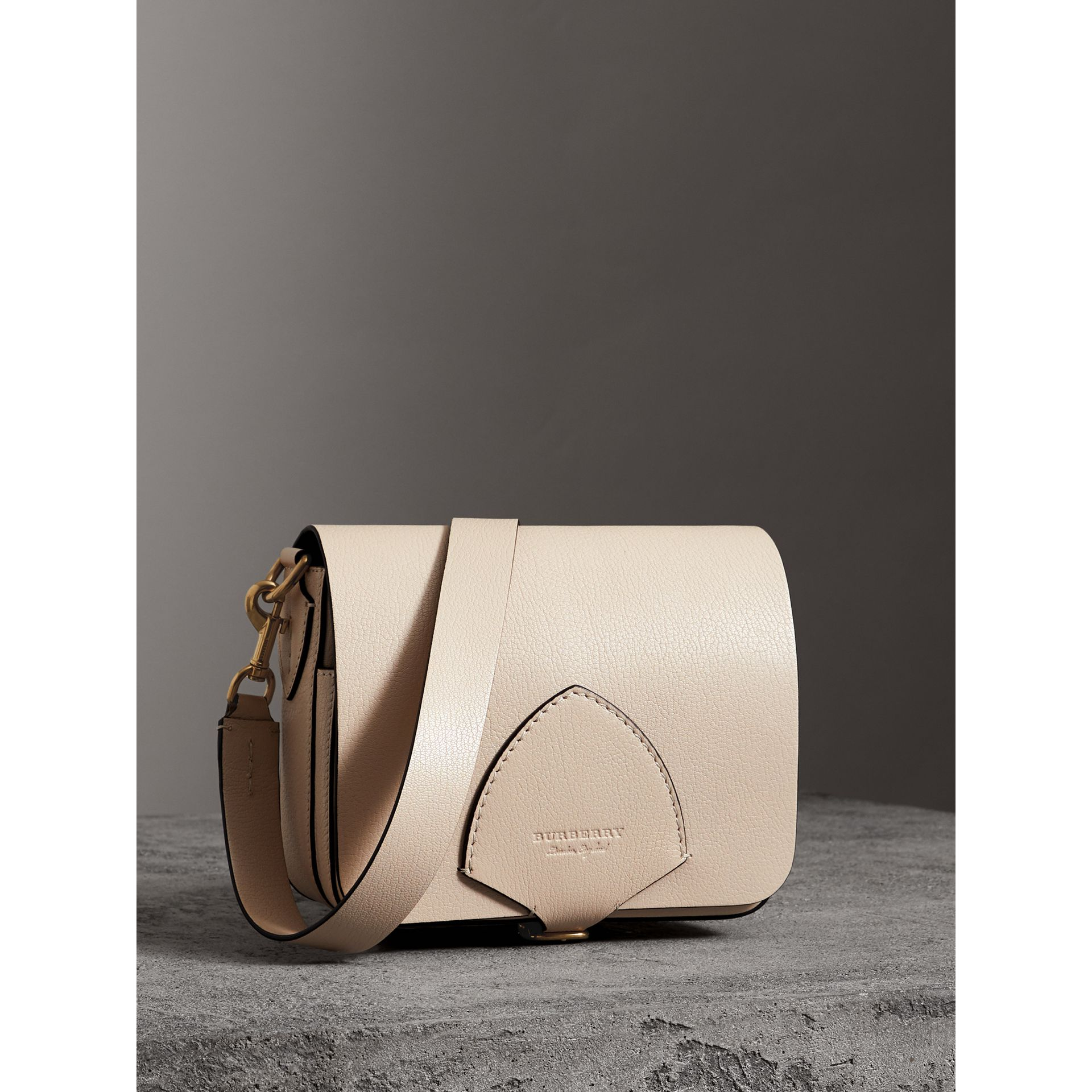 The Square Satchel in Leather in Stone - Women | Burberry United Kingdom - gallery image 7