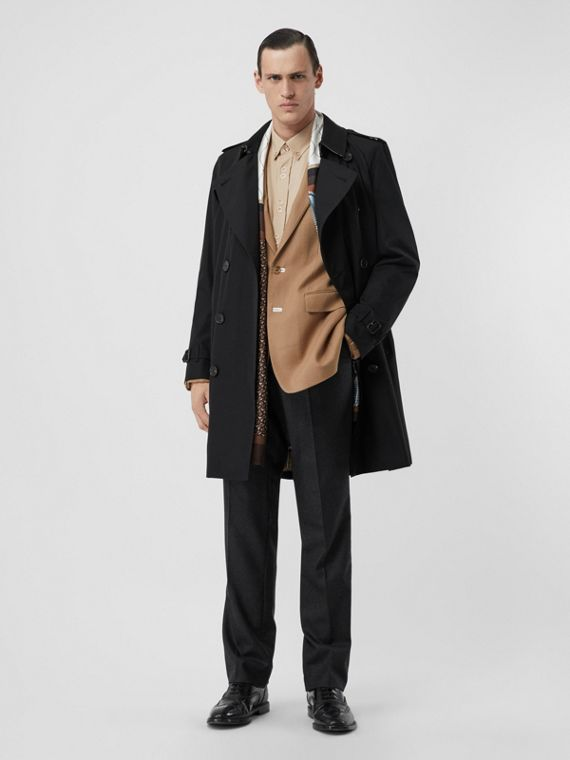 Trench coat Heritage Kensington (Negro)