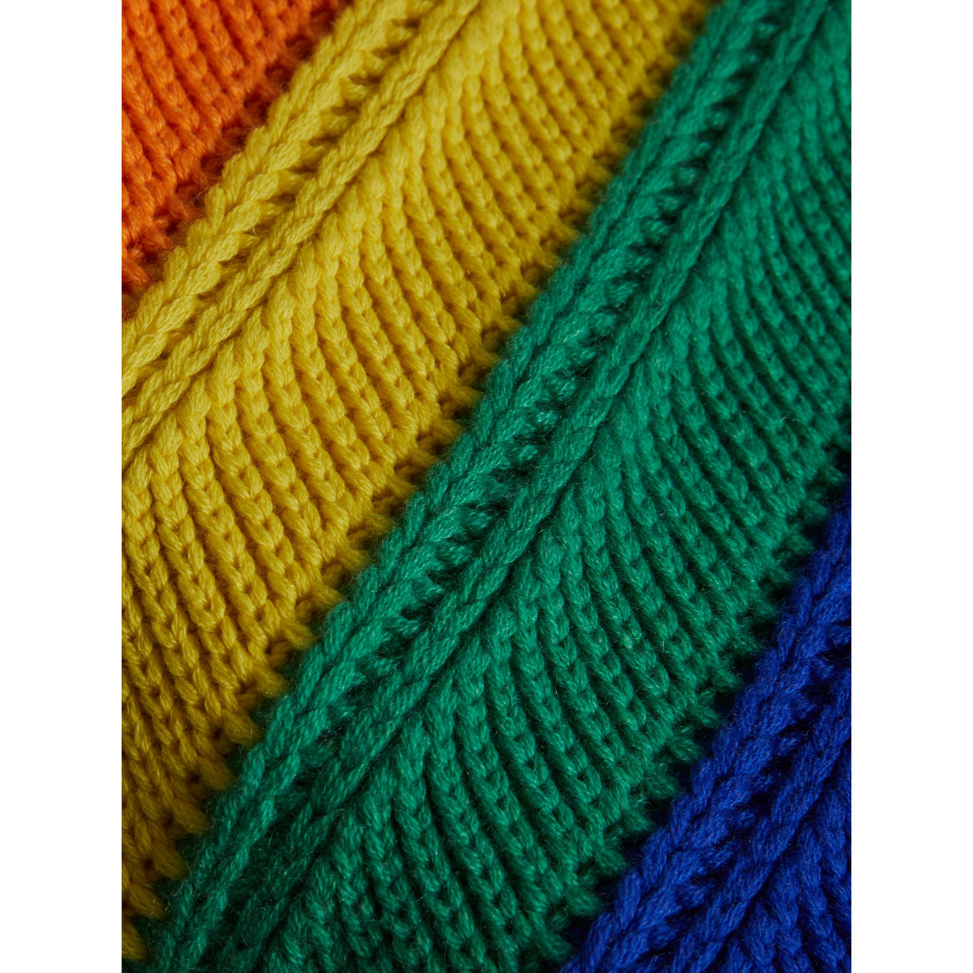 Rainbow Wool Cashmere Beanie | Burberry United Kingdom - gallery image 1