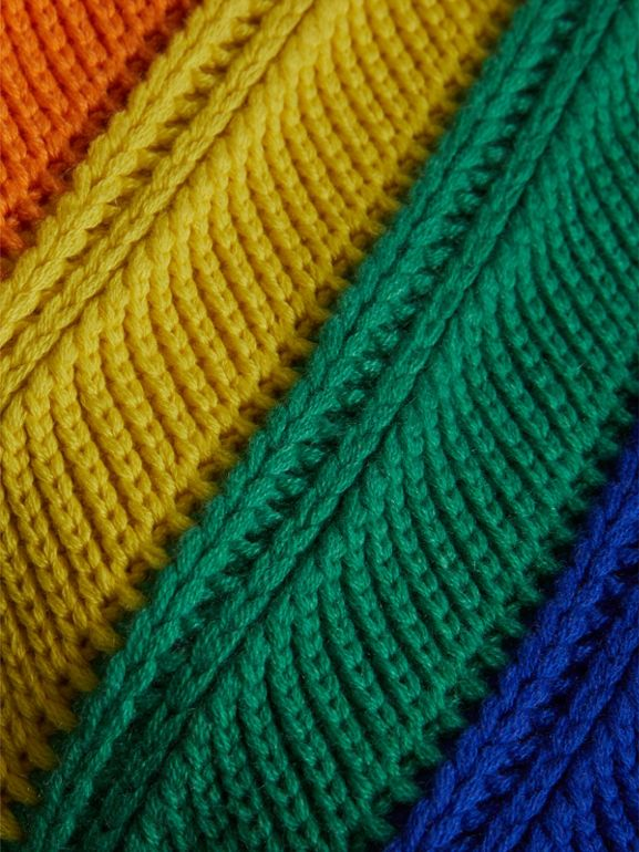 Rainbow Wool Cashmere Beanie | Burberry United Kingdom - cell image 1
