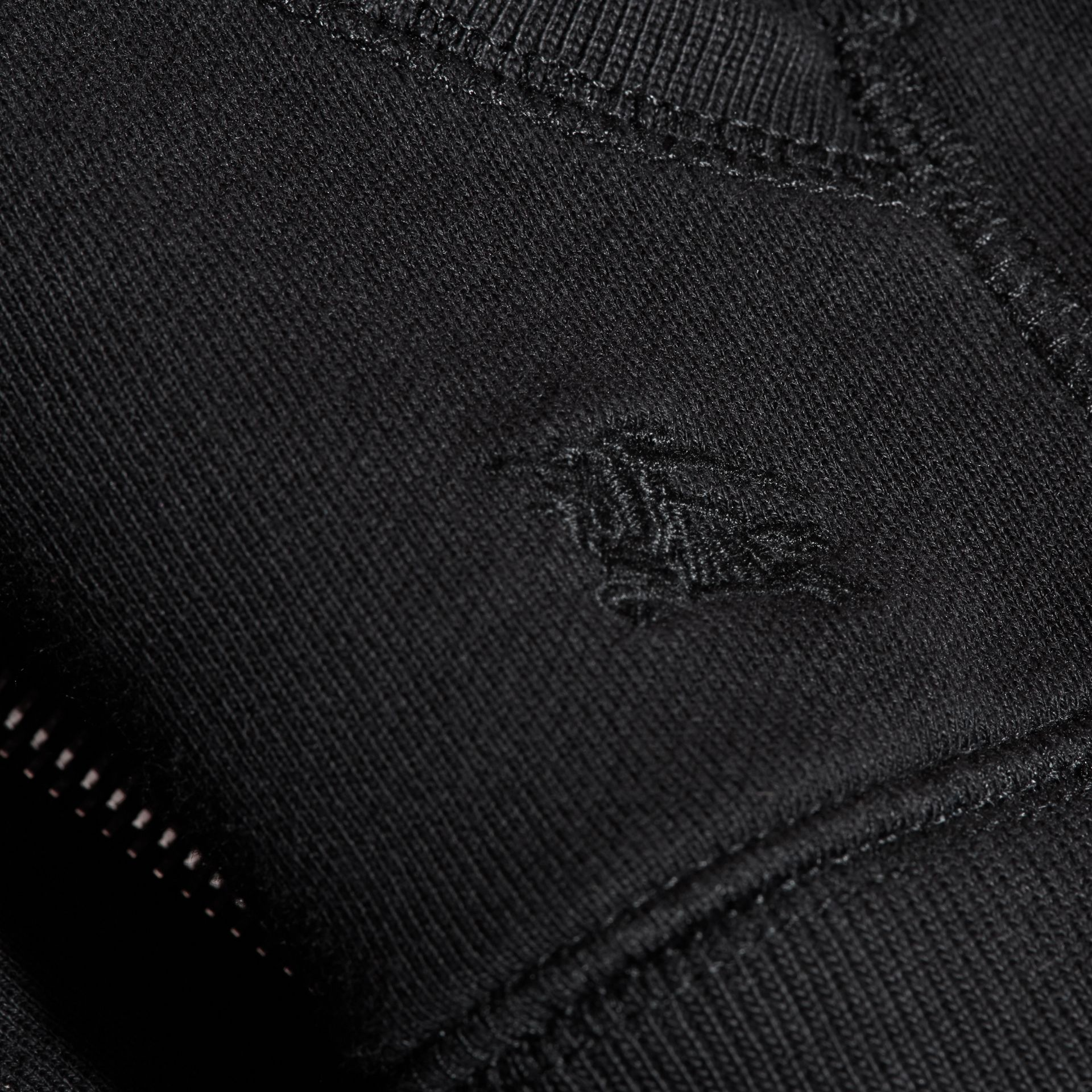 Hooded Cotton Top in Black - Boy | Burberry - gallery image 2