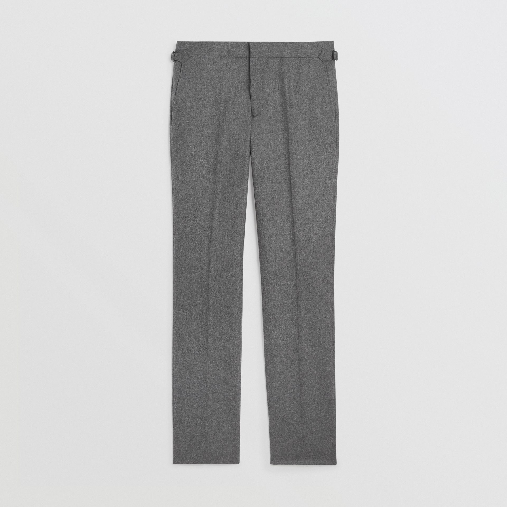 Wool Cashmere Tailored Trousers in Mid Grey Melange - Men | Burberry Singapore - gallery image 3