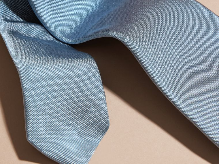 Sky blue Modern Cut Silk Twill Tie Sky Blue - cell image 1