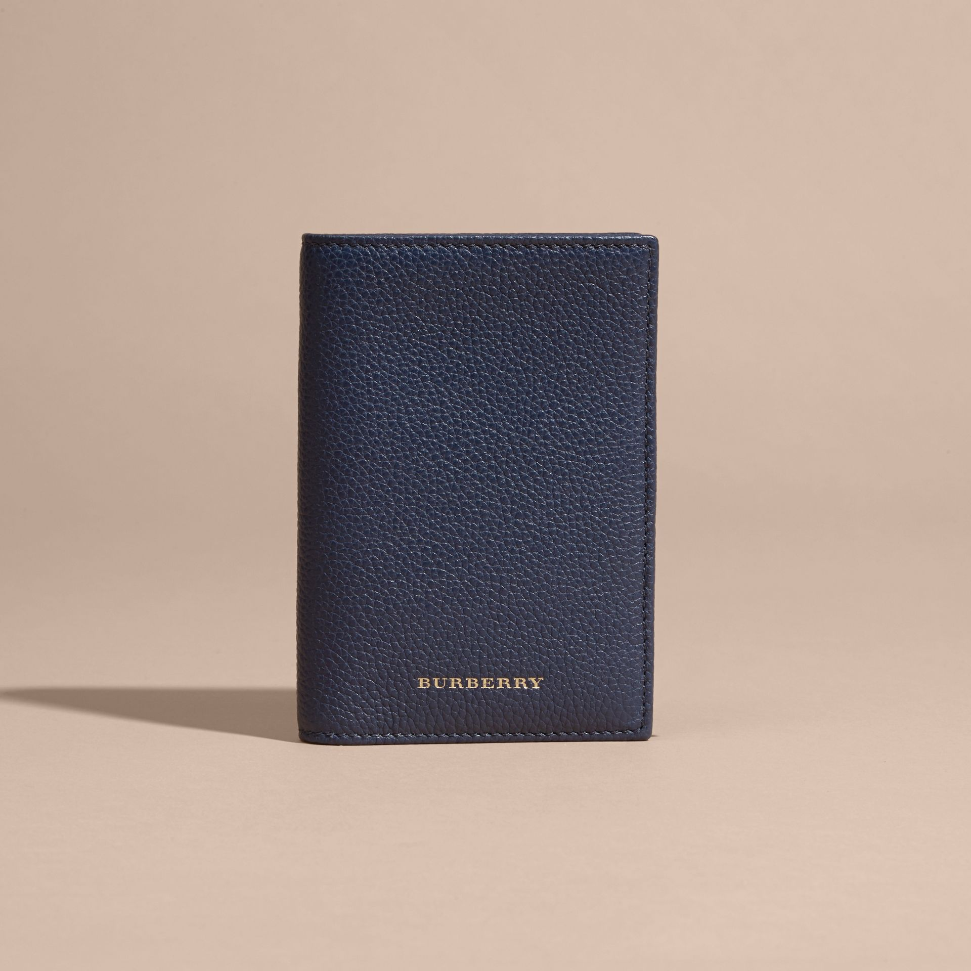 Bright navy Grainy Leather Passport and Card Holder Bright Navy - gallery image 6