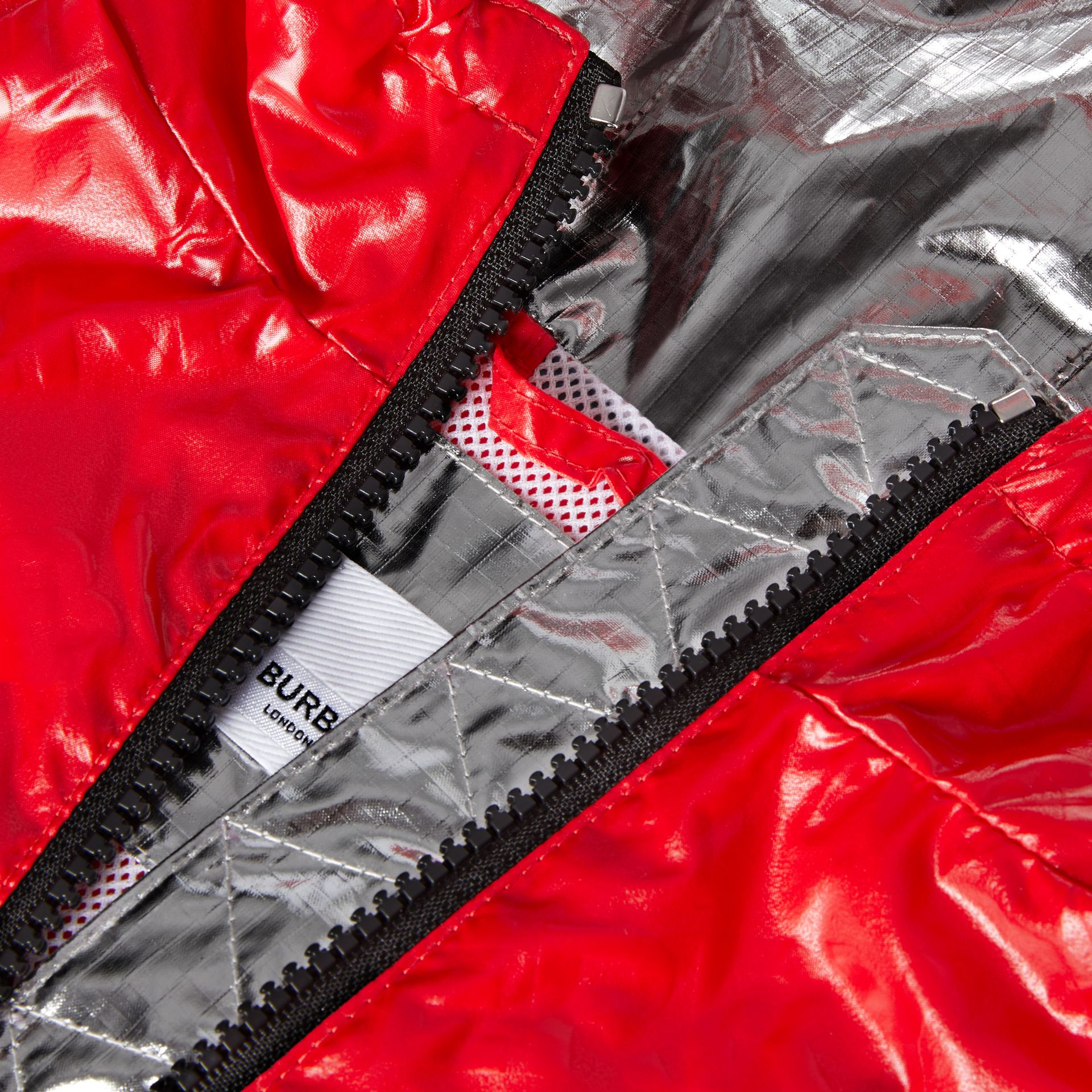 Logo Print Lightweight Hooded Jacket in Bright Red - Children | Burberry United States - gallery image 1