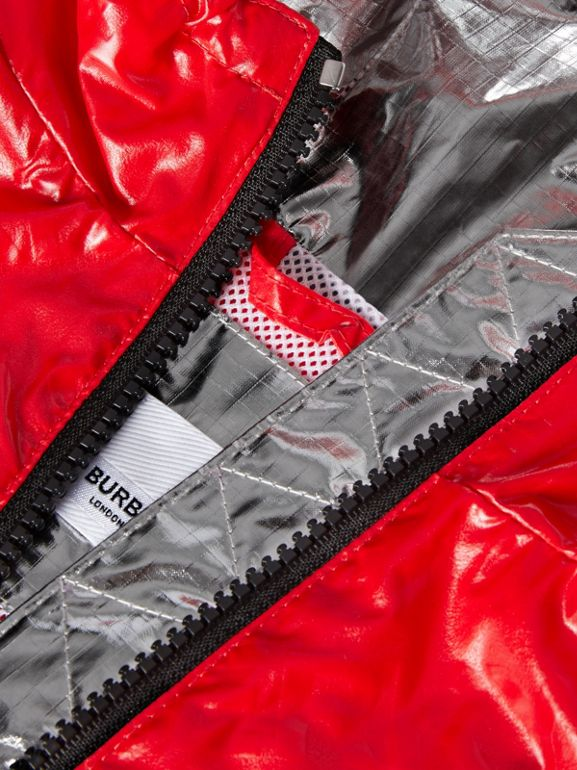 Logo Print Lightweight Hooded Jacket in Bright Red - Children | Burberry United States - cell image 1