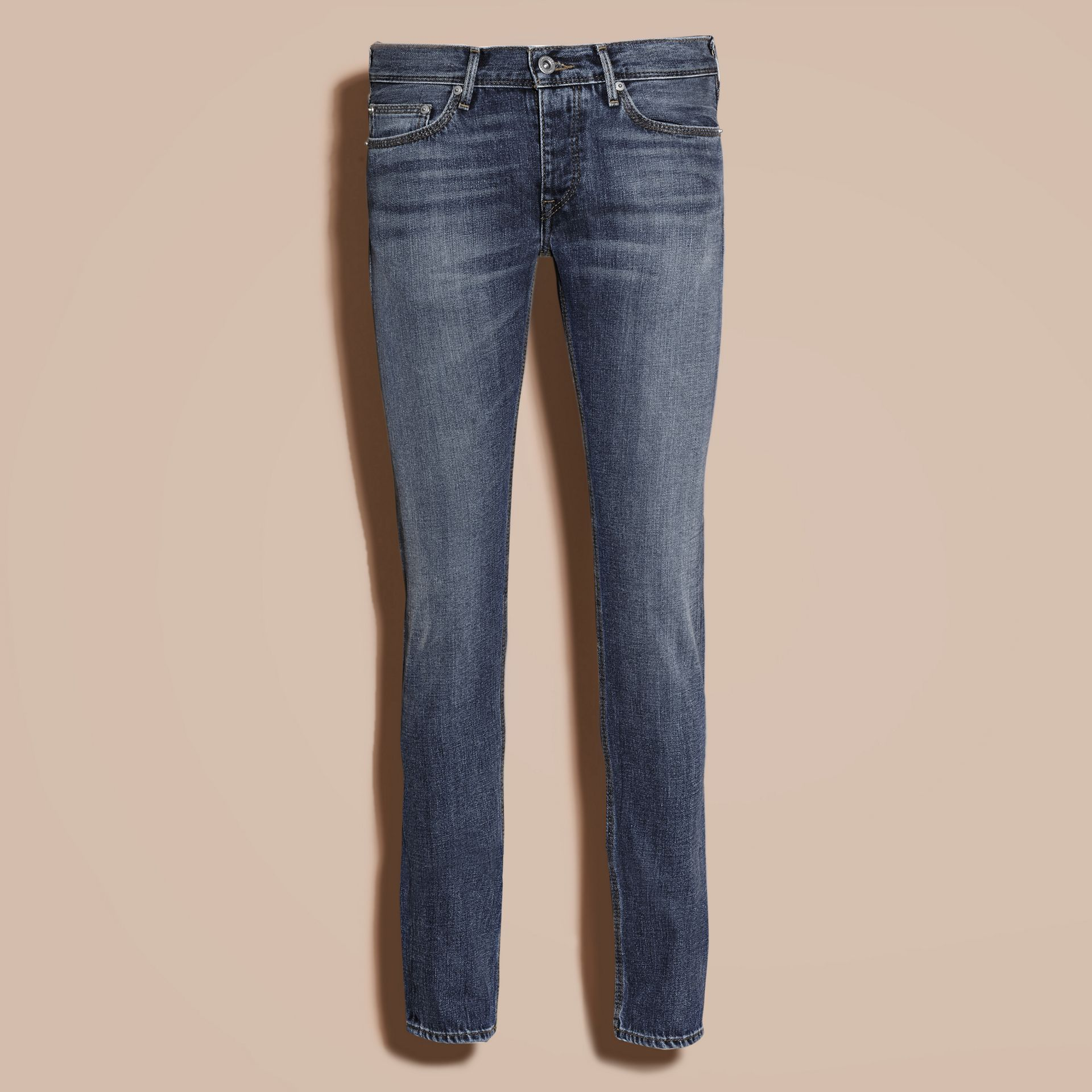Indigo Skinny Fit Japanese Selvedge Denim Jeans - gallery image 4