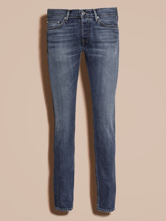 Indigo Skinny Fit Japanese Selvedge Denim Jeans - cell image 3