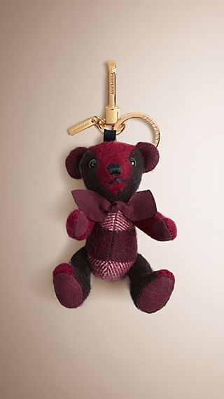 Thomas Bear Charm in Check Cashmere