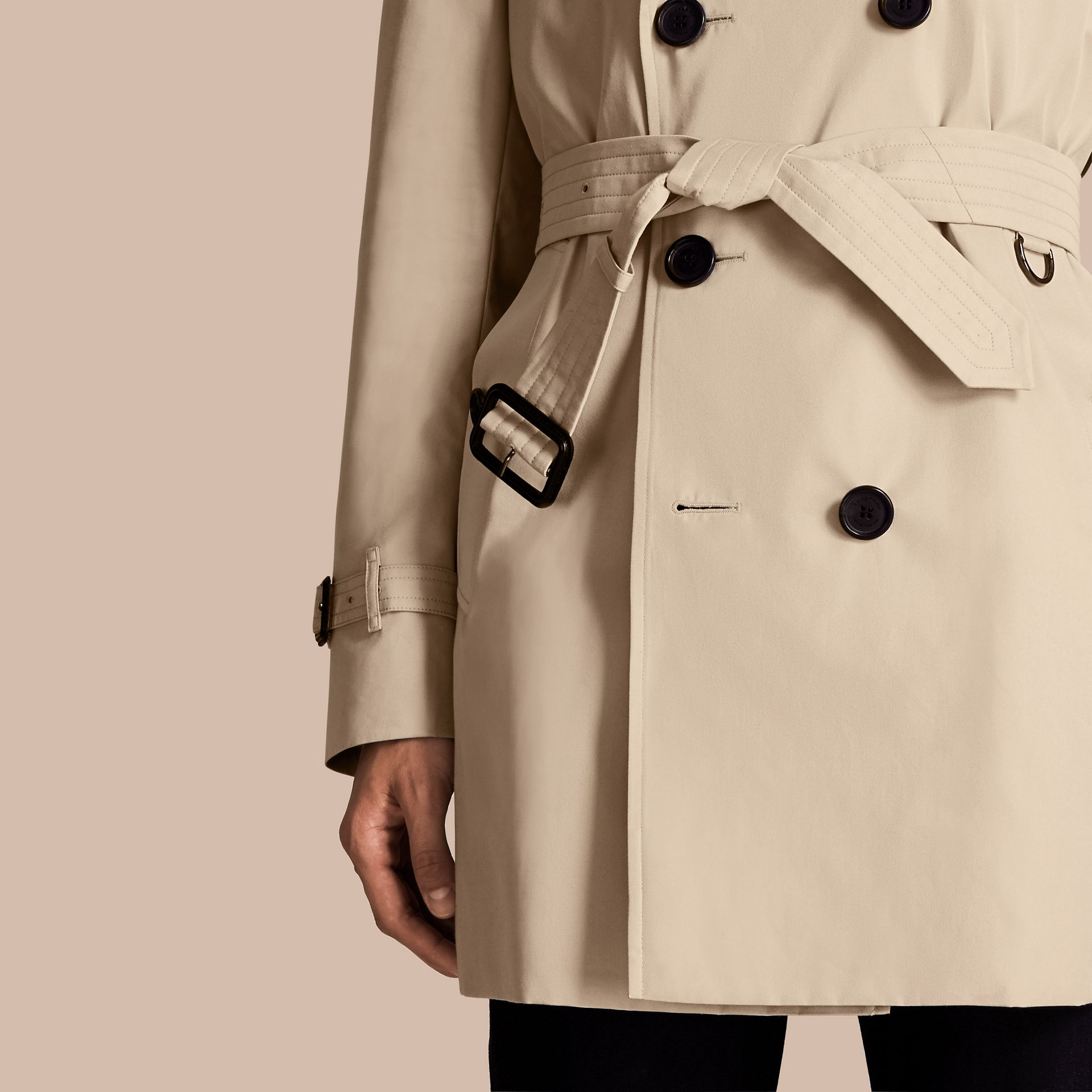Stone The Kensington – Mid-Length Heritage Trench Coat Stone - gallery image 6