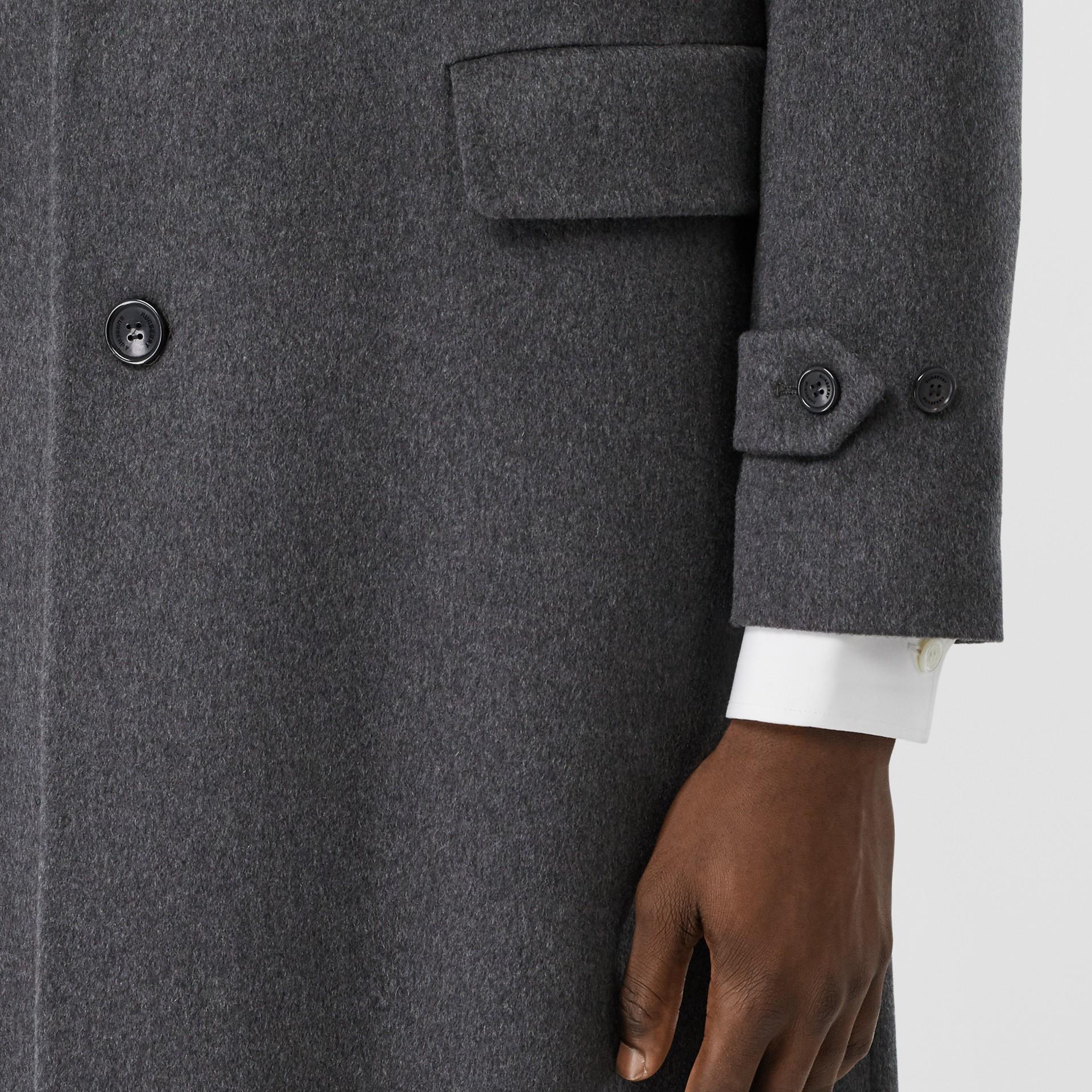 Cashmere Lab Coat in Pewter Melange - Men   Burberry - gallery image 4
