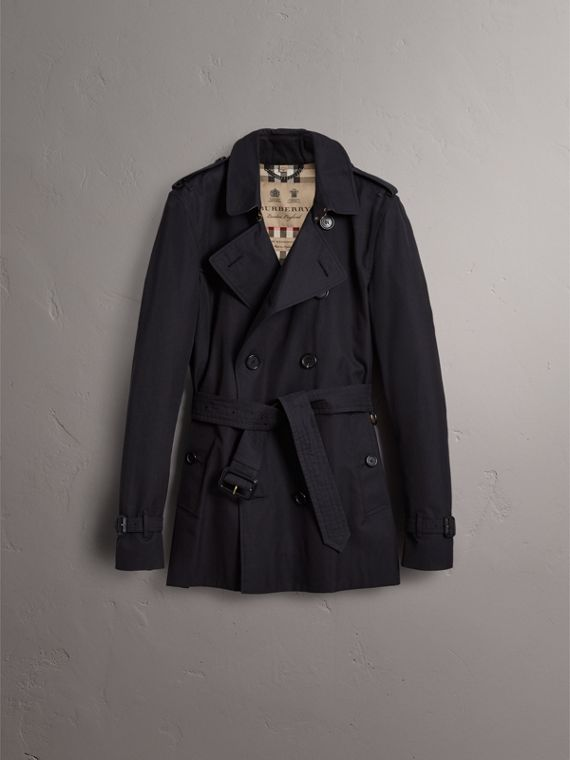 The Kensington – Short Heritage Trench Coat in Navy - Men | Burberry - cell image 3