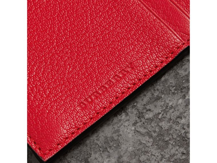 Two-tone Leather Zip Card Case in Bright Red | Burberry - cell image 1
