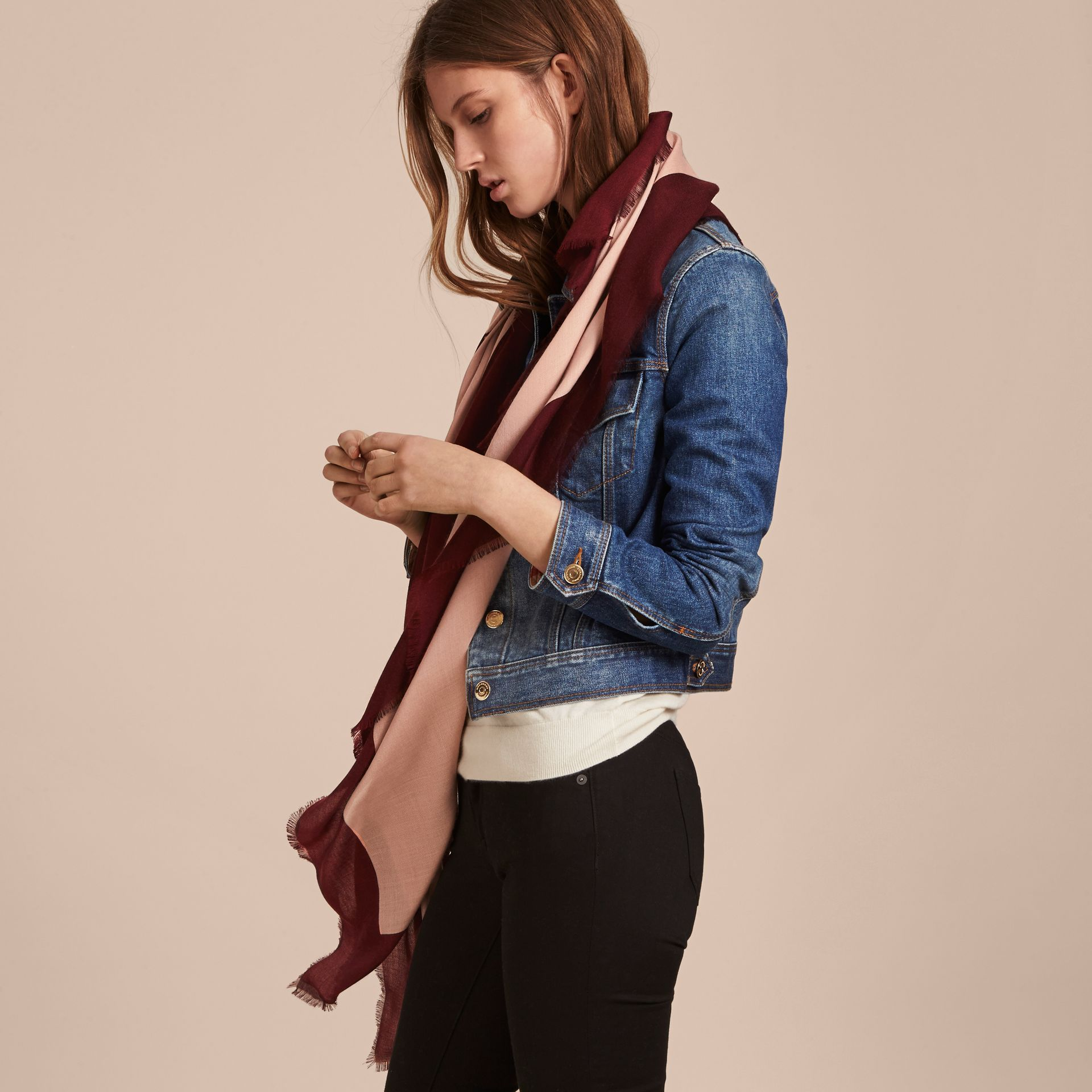 Burberry Print Cashmere Blend Scarf Rose/garnet - gallery image 3