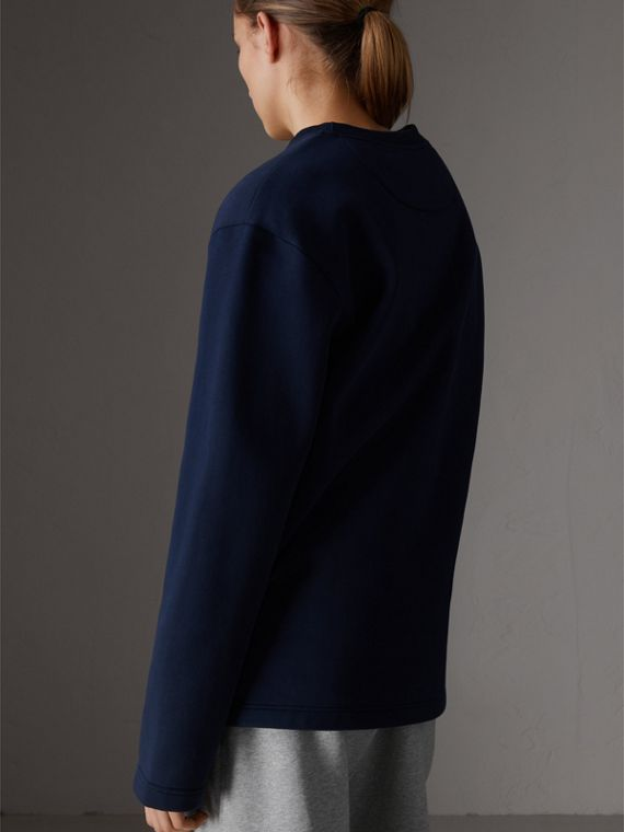 Reissued Jersey Sweatshirt in Dark Blue - Women | Burberry United Kingdom - cell image 2