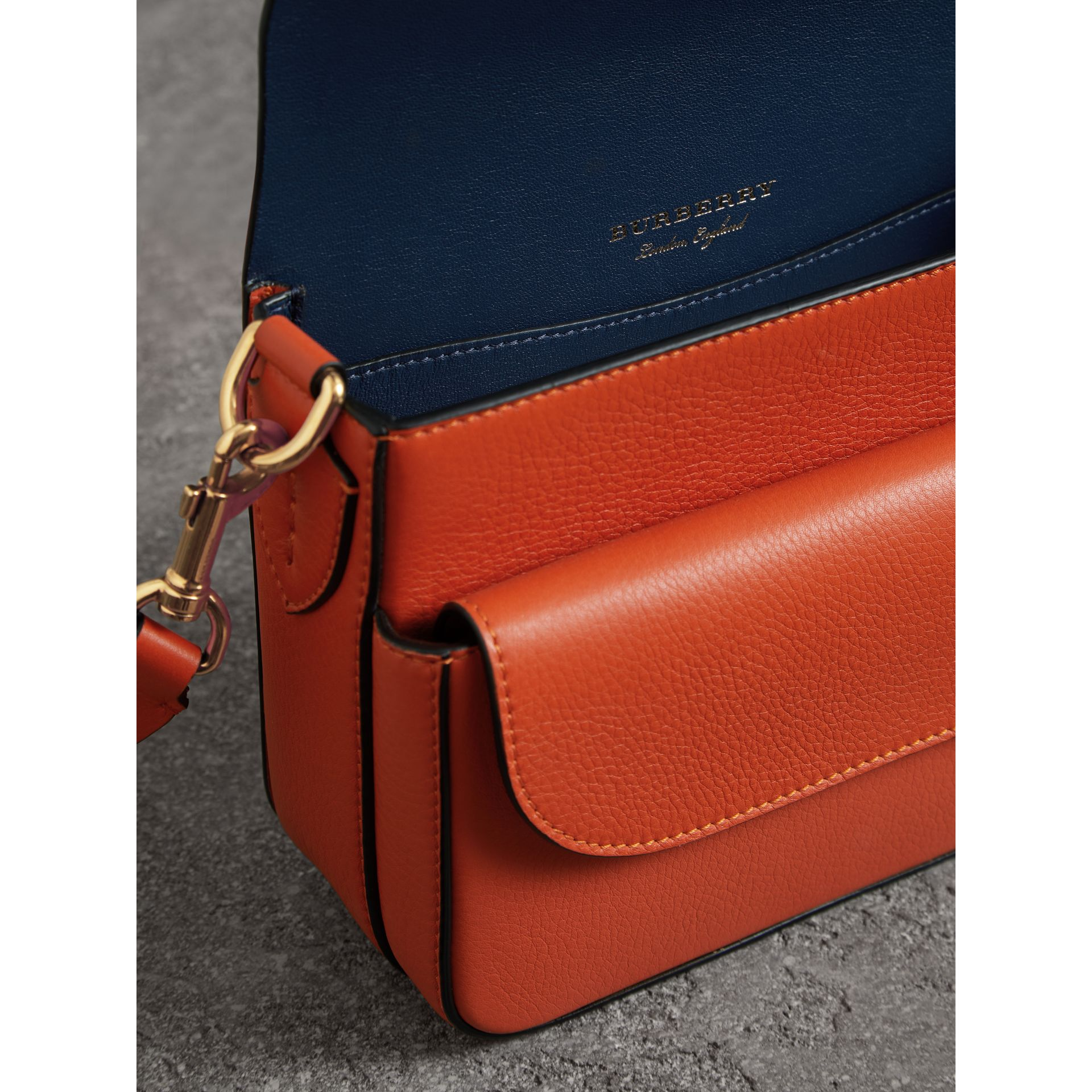 The Square Satchel in Leather in Clementine - Women | Burberry - gallery image 5