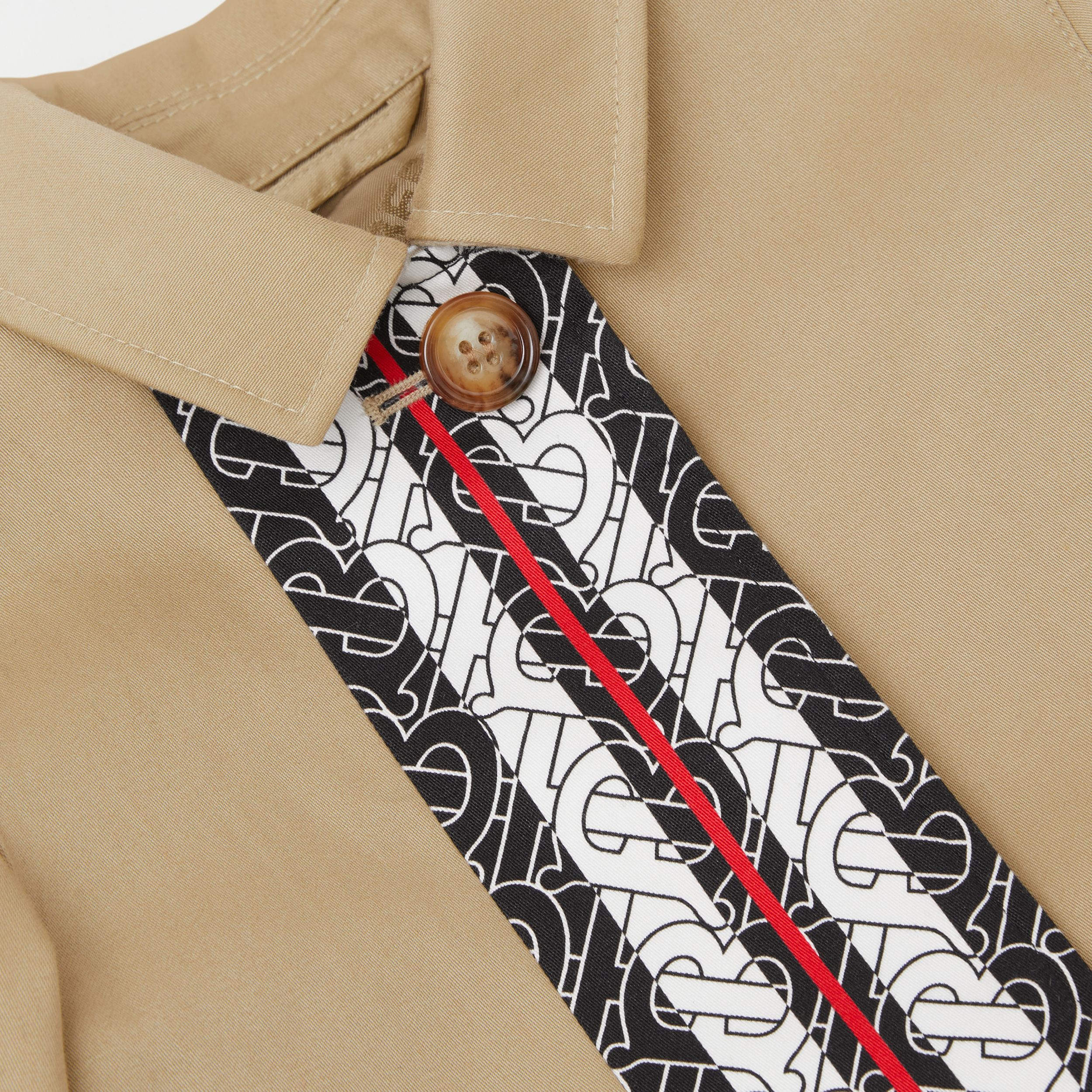 Monogram Stripe Print Cotton Car Coat in Honey - Children | Burberry - 2