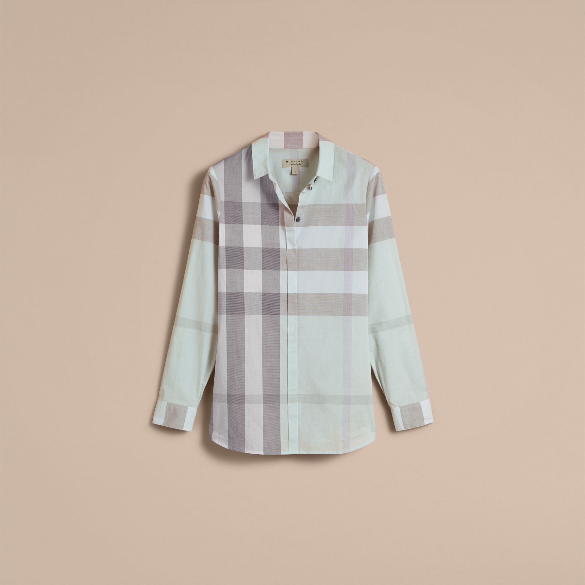 Pale opal Check Cotton Shirt Pale Opal - gallery image 4
