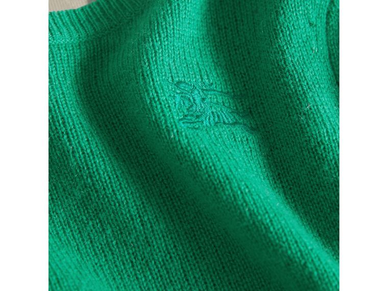 Check Elbow Patch Cashmere Sweater in Bright Green | Burberry Hong Kong - cell image 1