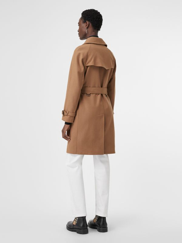 Herringbone Wool Cashmere Blend Trench Coat in Camel - Women | Burberry - cell image 2