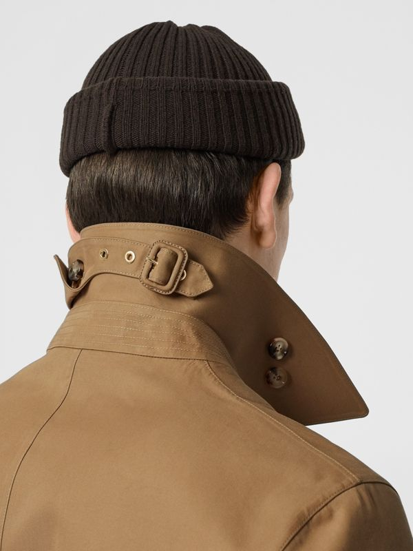Double-faced Cotton Silk Car Coat in Camel - Men | Burberry - cell image 3