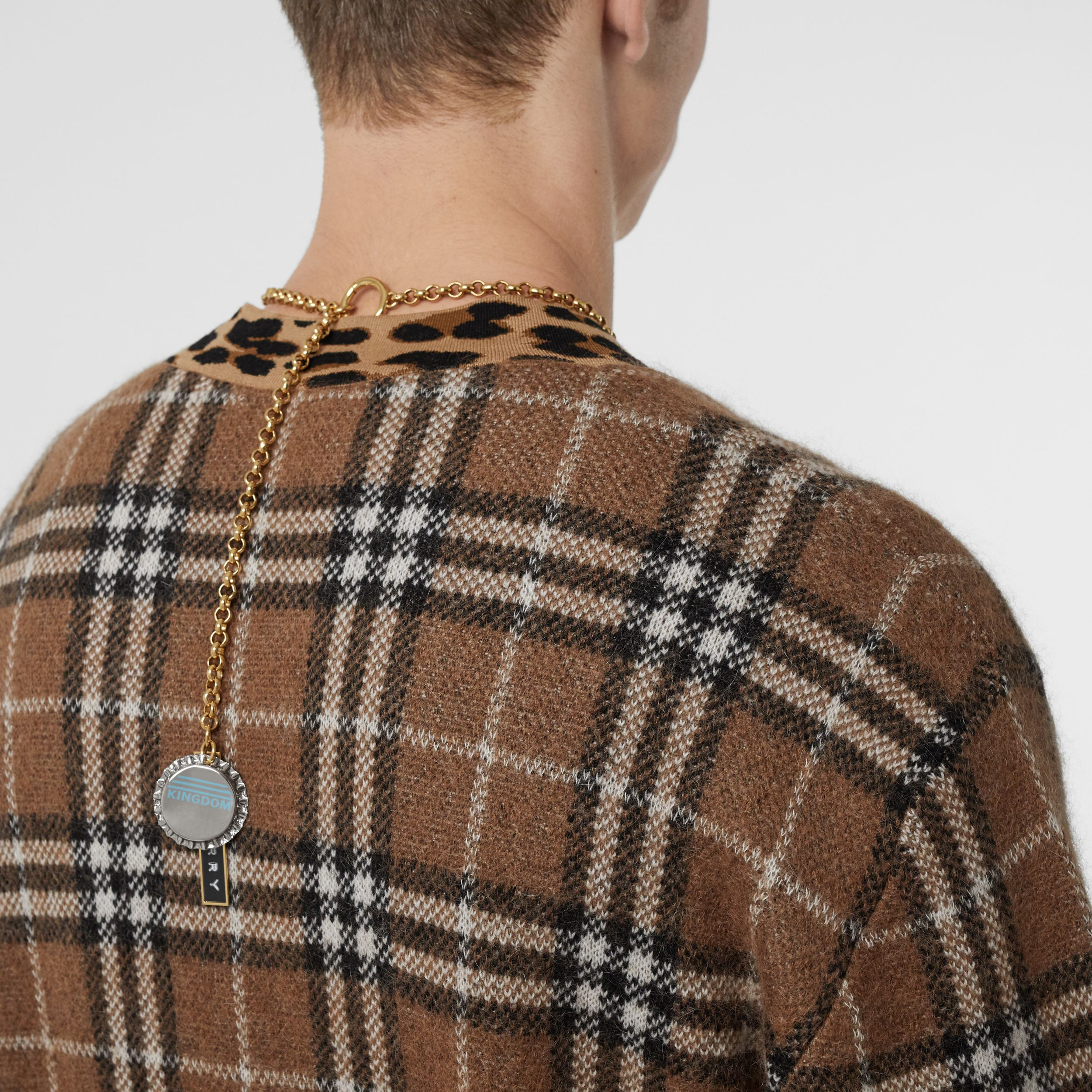 Bottle Cap and Logo Tag Gold-plated Chain Necklace in Light | Burberry - 3