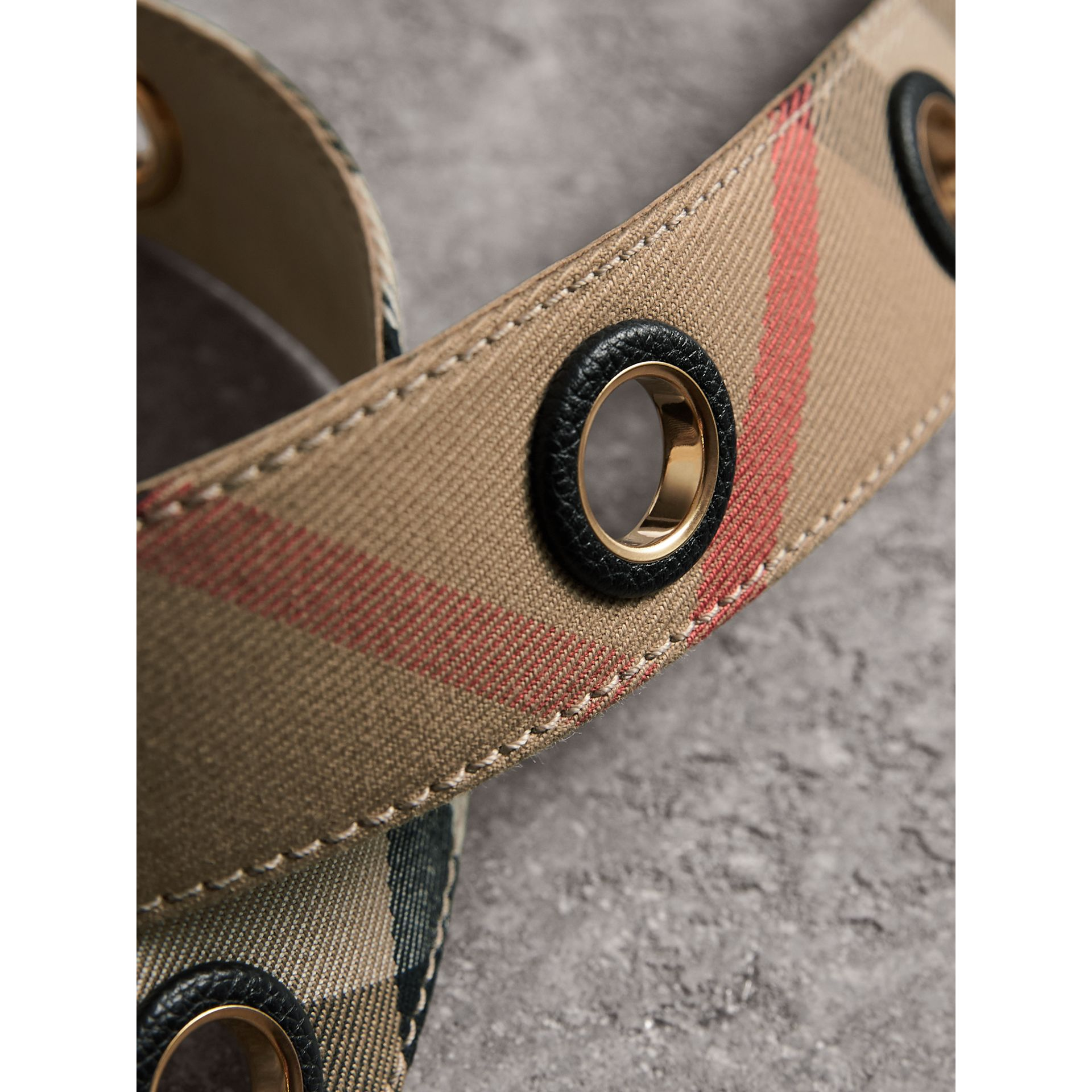 Eyelet Detail House Check Belt - Women | Burberry Australia - gallery image 2