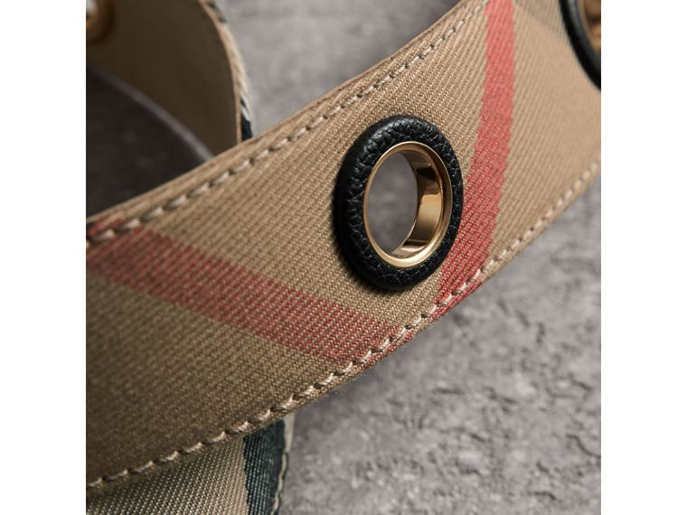 Eyelet Detail House Check Belt - Women | Burberry - cell image 1