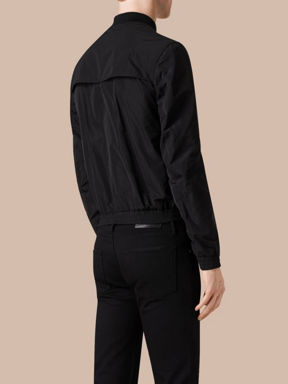 Black Showerproof Bomber Jacket Black - cell image 2