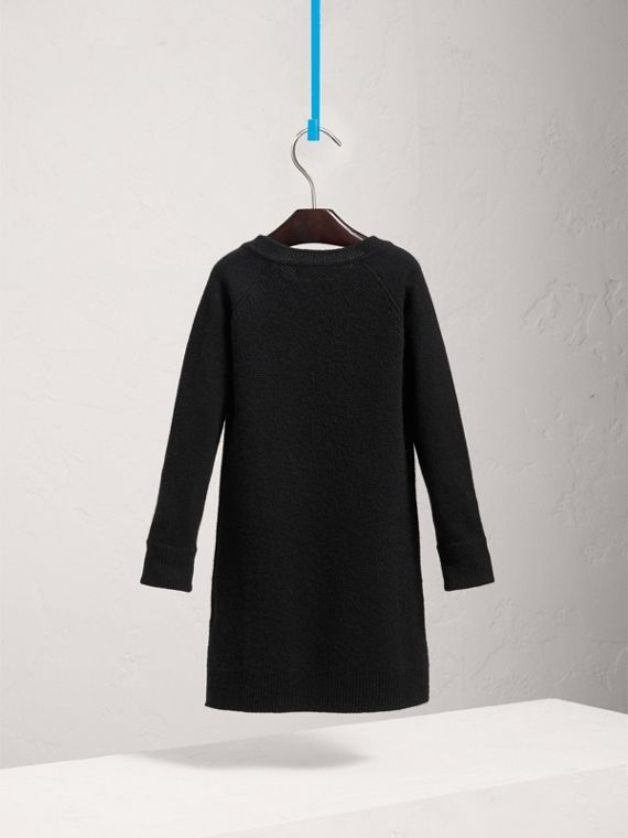 Cashmere Sweater Dress in Black - Girl | Burberry United Kingdom - cell image 3