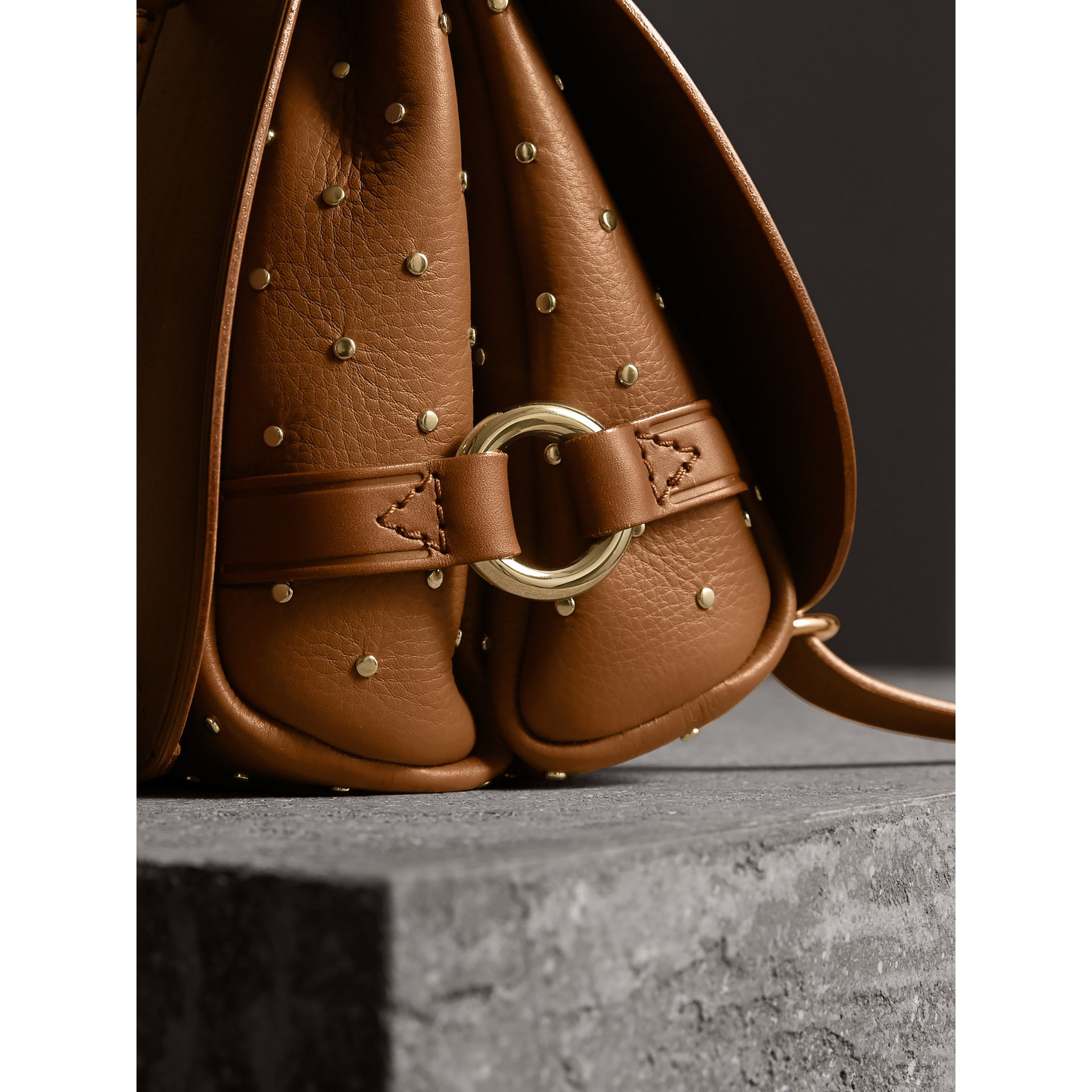 The Bridle Bag in Leather and Rivets in Tan - gallery image 2