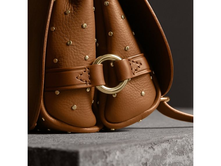 The Bridle Bag in Leather and Rivets in Tan - cell image 1