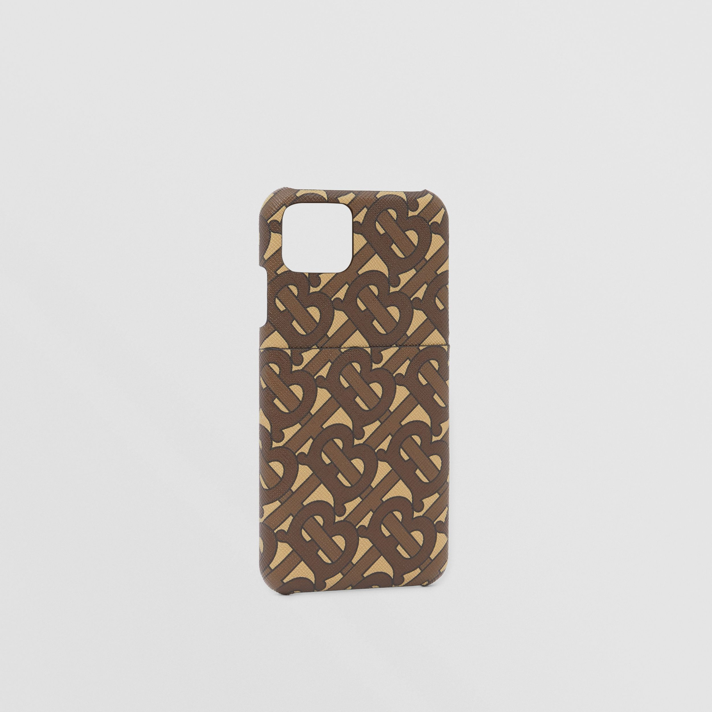 Monogram Print E-canvas iPhone 11 Pro Case in Bridle Brown - Men | Burberry - 3
