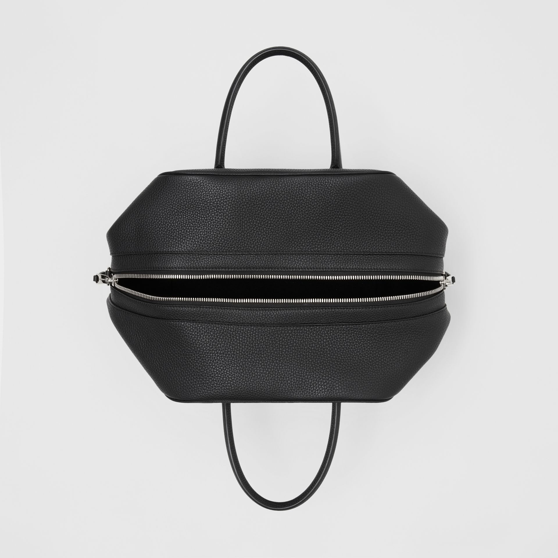 Medium Leather Cube Bag in Black - Women | Burberry - gallery image 4