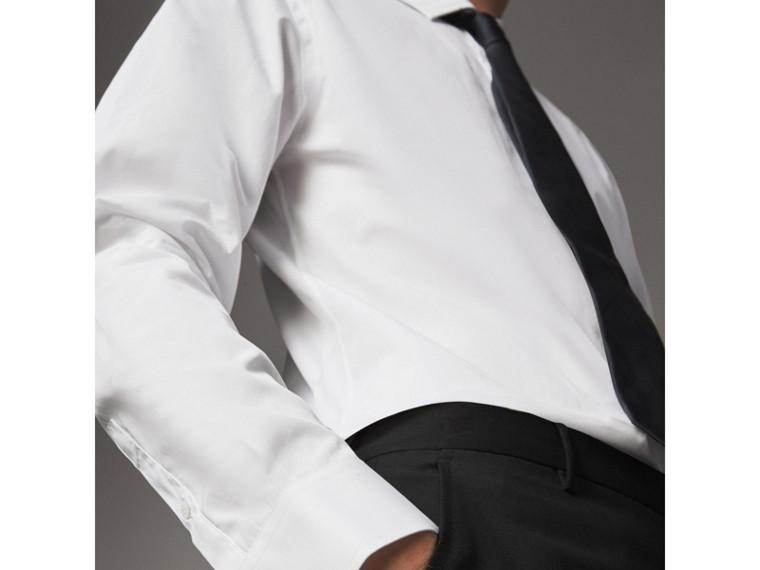 Modern Fit Cotton Poplin Shirt in White - Men | Burberry Australia - cell image 4
