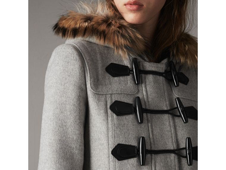 Wool Duffle Coat with Detachable Fur Trim - Women | Burberry - cell image 1