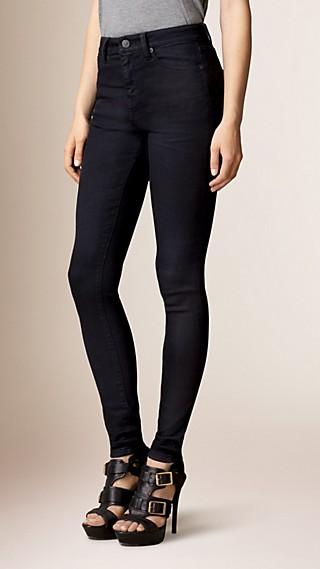 Jean skinny taille haute indigo profond