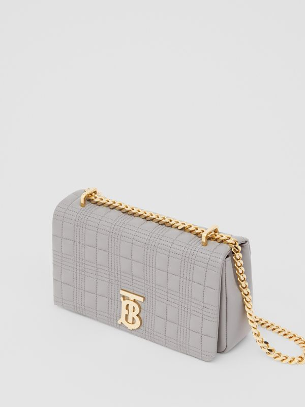 Small Quilted Lambskin Lola Bag in Cloud Grey | Burberry United States - cell image 3