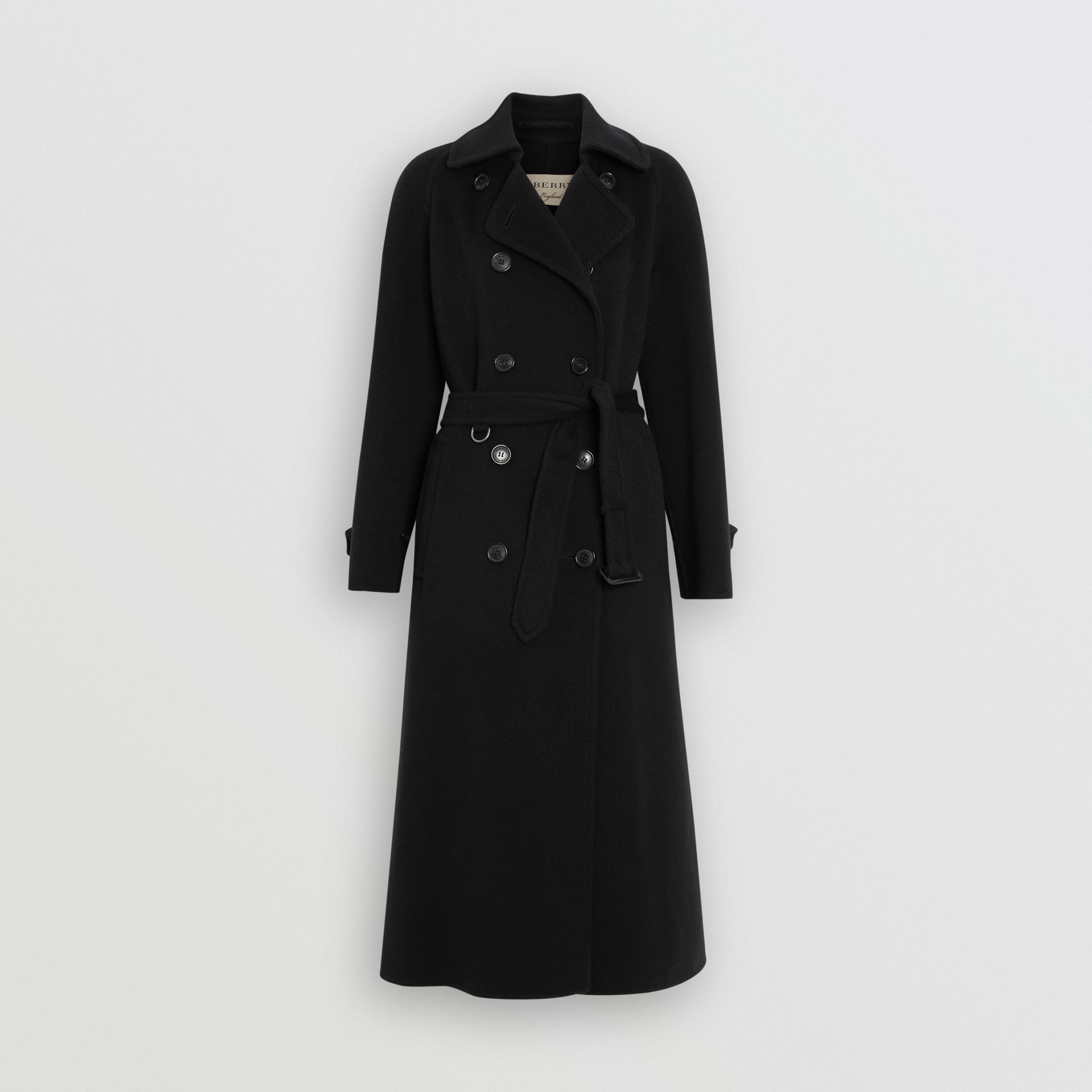 Double-faced Cashmere Tailored Coat in Black - Women | Burberry United Kingdom - gallery image 3