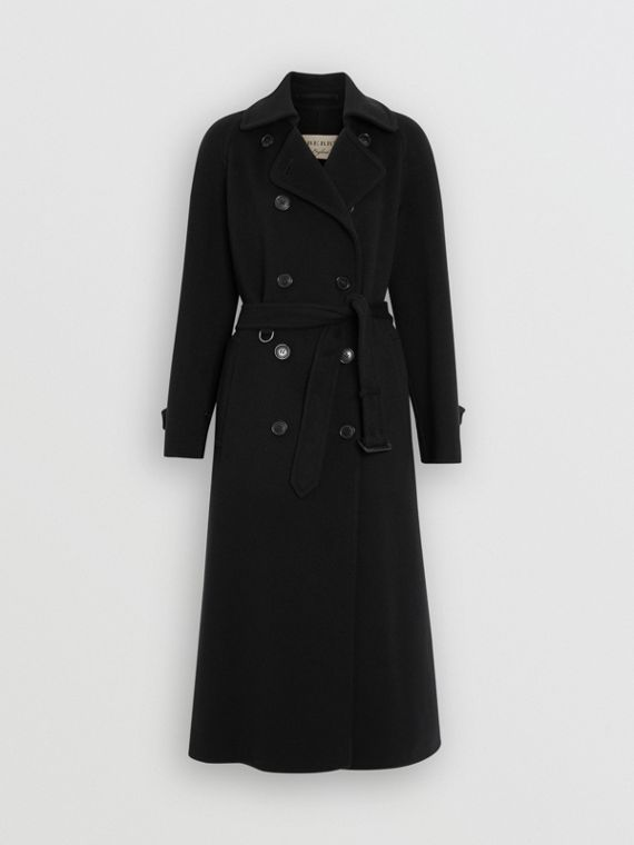 Double-faced Cashmere Tailored Coat in Black
