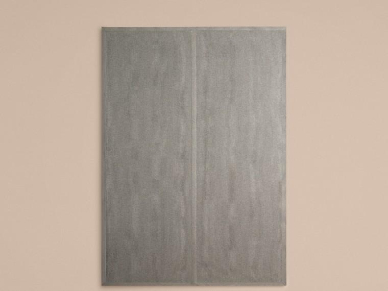 Light grey melange Rib Cashmere Blanket Light Grey Melange - cell image 2