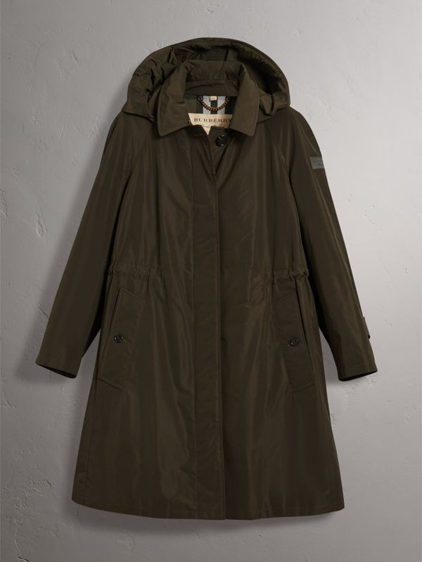 Detachable Hood Showerproof Car Coat in Dark Olive - Women | Burberry United Kingdom - cell image 3