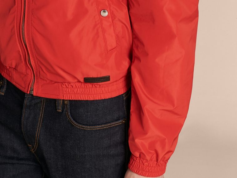 Orange red Showerproof Bomber Jacket - cell image 4