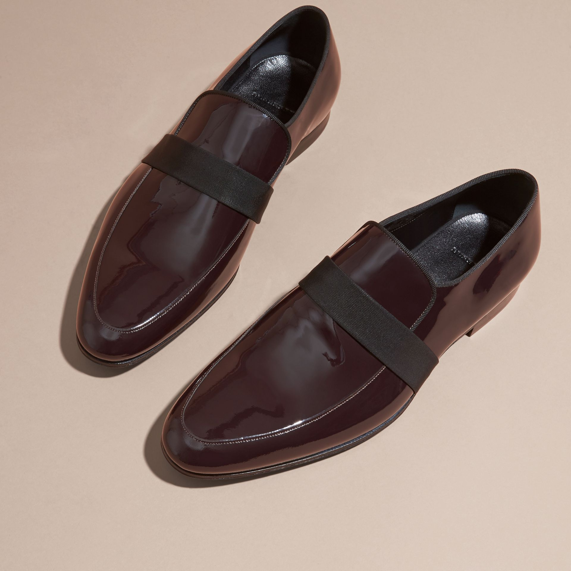 Dark claret Patent Leather Loafers - gallery image 3