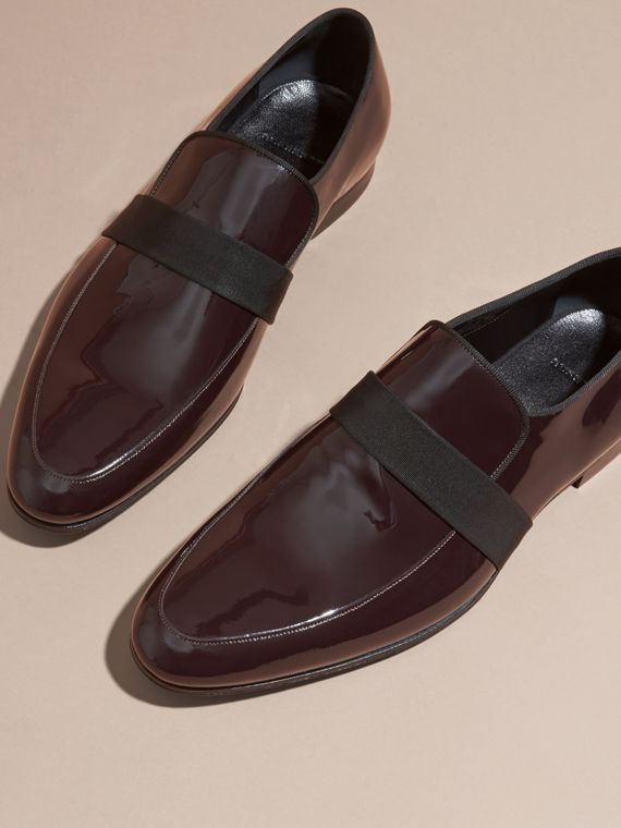 Dark claret Patent Leather Loafers - cell image 2