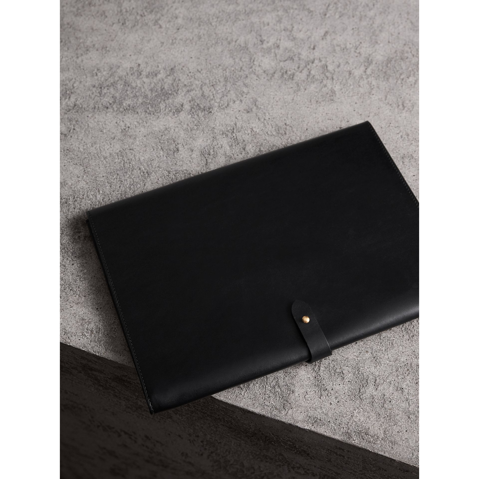 Equestrian Shield Leather A4 Document Case in Black - Men | Burberry United Kingdom - gallery image 2