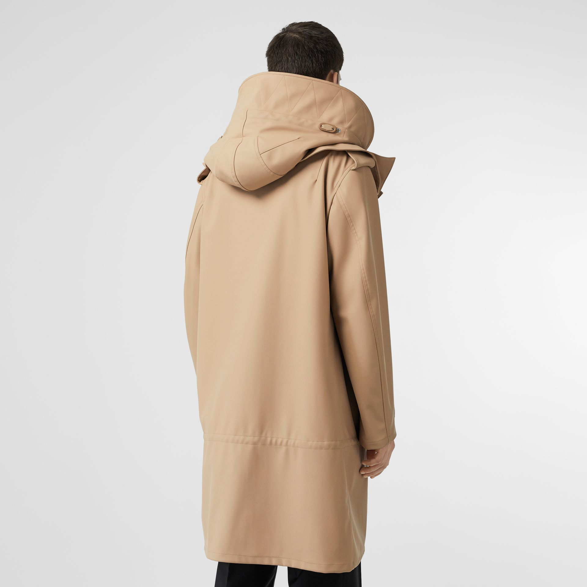 Detachable Hood Rubberised Parka in Honey | Burberry - gallery image 2